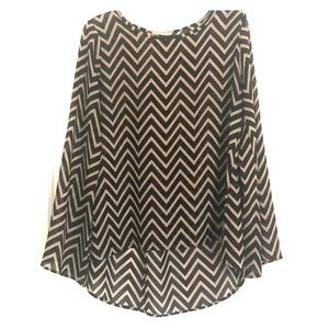 Black and brown chevron high/low top